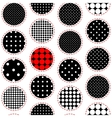 Polka dot patchwork pattern vector image vector image