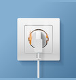 realistic detailed 3d plugs inserted in electrical vector image vector image