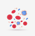 red and blue vein blood cells anatomy human vector image