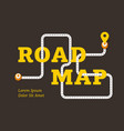 road map business concept with winding road vector image vector image