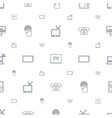 screen icons pattern seamless white background vector image vector image