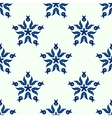 Seamless blue star winter pattern vector image vector image