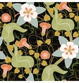 seamless vintage floral pattern Flowers on vector image