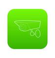 security camera icon green vector image vector image