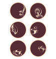 set of coffeetea icons vector image vector image