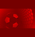 soccer background in red colors vector image