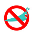 stop slug prohibited insect pest red prohibitory vector image vector image