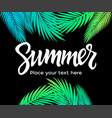 summer - leaflet template with brush vector image vector image