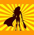 super woman comics superhero girl with sword vector image