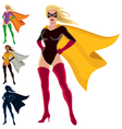 superhero - female vector image vector image