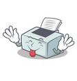 tongue out printer mascot cartoon style vector image vector image