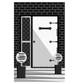 Vintage Door entrance facade vector image