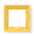 wooden frame for photos on white vector image