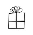 wrapped gift box celebration icon vector image vector image