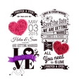 Save the date for your personal holiday Typography vector image
