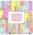 city background frame vector image