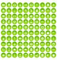 100 taxi icons set green circle vector image vector image