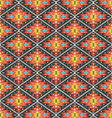 Aztec geometric seamless colorful pattern vector image