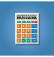Back to school calculator 01 vector image vector image