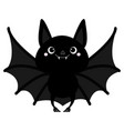 bat flying cute cartoon baby character with big vector image