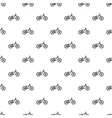 Bike pattern simple style vector image vector image
