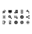bitcoin and cryptocurrency glyph icons collection vector image vector image