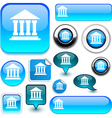 Blue Exchange signs vector image