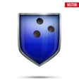Bright shield in the bowling ball inside vector image vector image