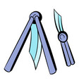 butterfly knife icon icon cartoon vector image vector image