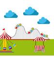 carnival fun fair festival circus park vector image vector image
