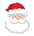 cheerful Santa head vector image vector image