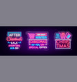 christmas sales collection neon signs signs vector image