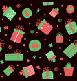 christmas seamless pattern with gift boxes vector image vector image