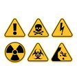 danger signs safety symbol alert icon and vector image