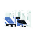 delivery service truck vector image