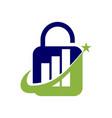 financial accounting consulting lock logo vector image vector image