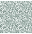 Flowers Lace Pattern vector image vector image