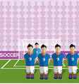 France Soccer Club Penalty on a Stadium vector image vector image