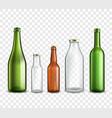 Glass bottles transparent vector image vector image