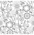 Graphic nautical pattern vector image vector image