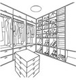 hand drawn dressing room for and colo vector image vector image