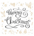 hand made lettering phrase merry christmas vector image