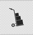 hand truck and boxes icon isolated dolly symbol vector image vector image