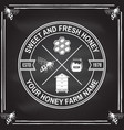 Honey farm badge concept for shirt print