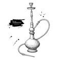 hookah drawing hand drawn vintage shisha vector image