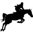 horse and rider jumping vector image vector image