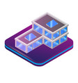 isometric image augmented reality for architect vector image