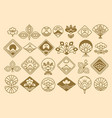 japanese icons big collection vector image vector image