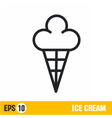 line icon ice cream vector image
