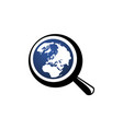 magnify world vector image vector image